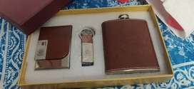 India army key chain, card holder and alcohol hip flask set NEW