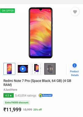 Seal pack mi note 7 pro
