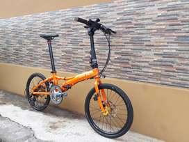 Sepeda lipat Dahon Visc d18 orange