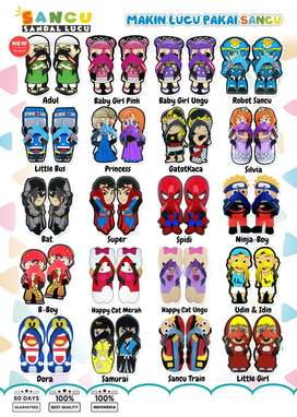 Sandal anak animasi