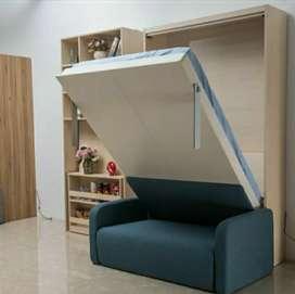 Wall bed minimalis