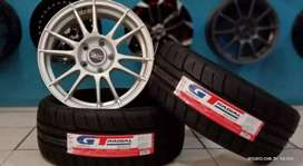 Jual paket velg+ban mobil racing murah ring 16x7,0 h5x114.3 et38