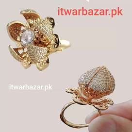 Adjustable Flower Style Bloom Ring Home delivery with COD in pakistan