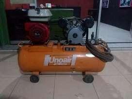 Kompresor Unoair , mesin bensin Honda 5,5Hp