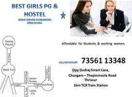 Womens PG and Hostel - Thrissur Town