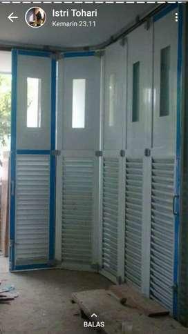 Jual Kusen pintu satu dan pintu dua dari bahan aluminium dan kayu