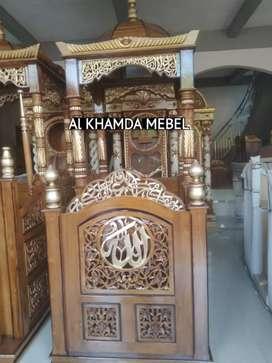 Ready Mimbar Masjid Material Kayu Jati Berkualitas @1193