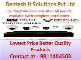CCTV camera Hikvision & Cp plus and door lock , Door phone installatio