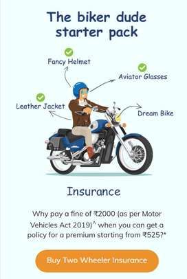 Bike & car insurance
