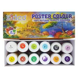 KIDCO Poster Color Plus Glitter Pack of 6+1 - PC7, Jumbo Poster Color