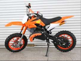 Dirt Bike For Kids Age 5-13 Petrol 50cc White And Orange