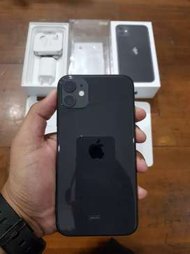 iPhone 11 64GB Black, iBox Resmi, Full ori, Mulus dan Normal
