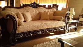 Brand new 7 seater sofa set in antique deign at very reasonable price