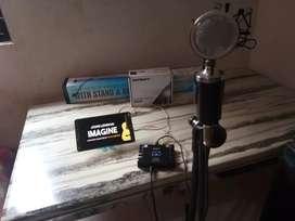 Paket Soundcard + mic + stand mic
