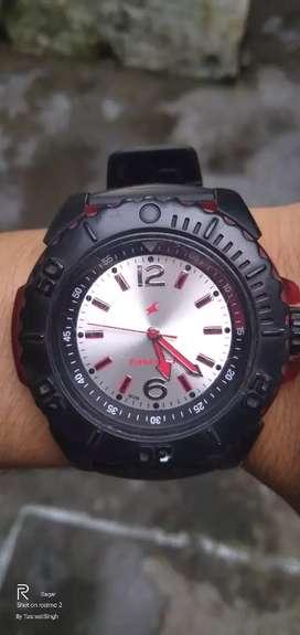 Fastrack Men's Analog Watch (black,red)