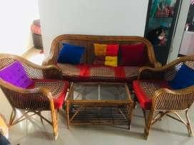 Sofa Set 3+1+1 with cushions.