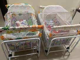 Twin Cribs with limited use (3 months use) for sale