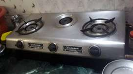 gas stove with cylinder Atachment
