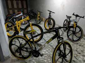 21 Gear Fat Tyre and Foldable Cycles with Disc Brakes