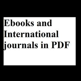Ebooks and International journals in PDF