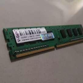 Ram PC Vgen V Gen 1GB DDR3 PC10600 PC3