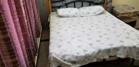 Queen size cot with matress