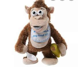 Banana monkey toy