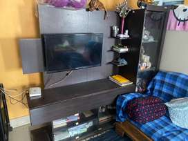 Zuari corner table and tv stand