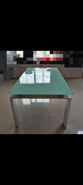 Meja makan kaca kualitas tinggi