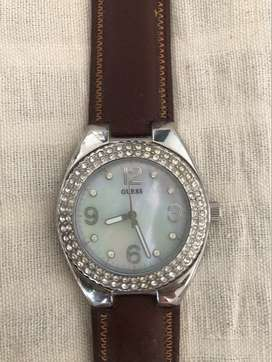 Original Guess Watch- mother of pearl & American diamond dial