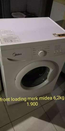 mesin cuci front loading merk midea