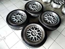 Dijual velg racing BBS ring 17+ban 205/45/17