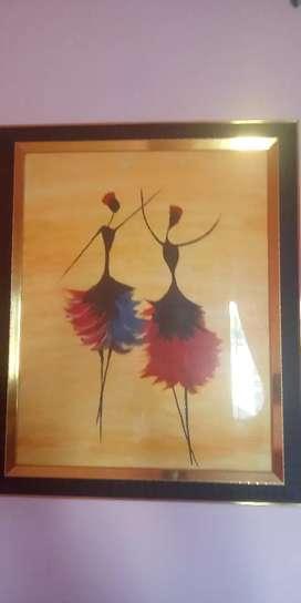 Beautiful Painting on dancing dancing dolls