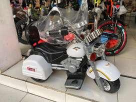 Motor Mainan Aki Anak Cas Listrik Model Harley Murah Bandung