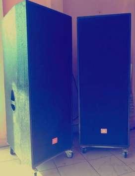 Jual cepat 2 unit speaker box 120 x 45cm