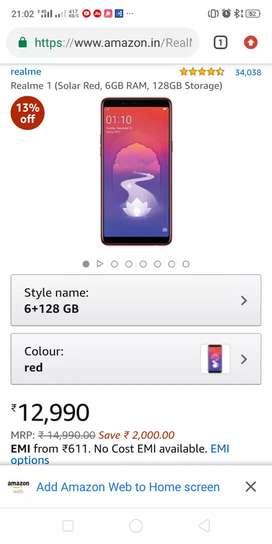 Realme one mobile phone