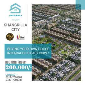 Plot in Shangrilla city theme park golden Block A on 10,000 monthly