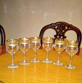 Gelas kristal (Pasabahce Gold)