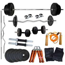 home gym set with 30kg weight