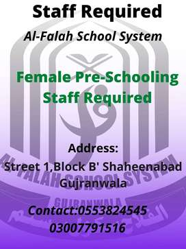 Female Pre-Schooling Staff Required