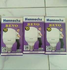 Lampu led bohlam Hannochs Revo 15 watt cahaya Putih terang irit ori z1