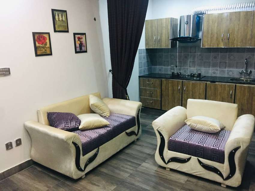 1 Bed Furnished Apartment For Rent in Sector E Bahria Town Lahore 0