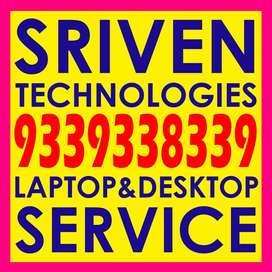 Laptops repair - Any brand - SRIVEN TECHNOLOGIES Brodipet GUNTUR