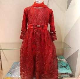 Busana muslim mewah anak baju muslim pesta glamor anak