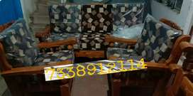 Luxurious teakwood sofa set 3+1+1 in cash on delivery option