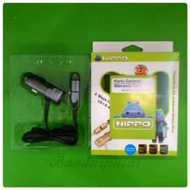 Charger Mobil Hippo Raiser Built in Cable 2 in 1