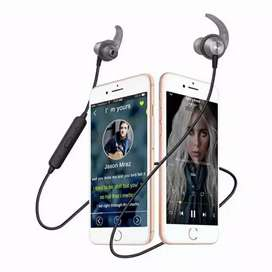 Wireless bluetooth headset double kabel robot fastplay