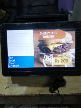 Duel display touch machine available German brand restaurant fast food