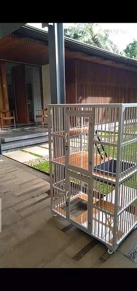 Kandang kucing alumunium dua lantai  Istimewa