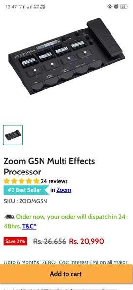 Zoom g5n guitar processor